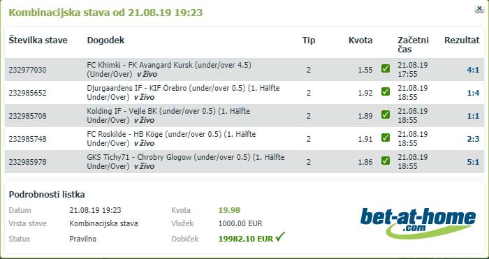 e stave bet at home